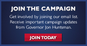 Receive Email Updates from Jon Huntsman
